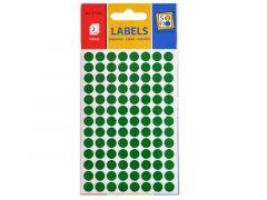 Etiketten Rond Groen 8Mm 3V