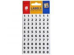 Etiketten 0-9 Zwart 5Mm 2V