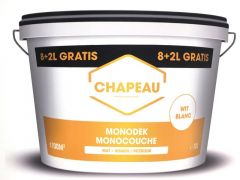 Chapeau Muurverf Monodek 8+2L Wit Binnen