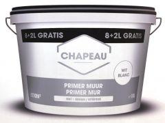 Chapeau Muurprimer 8+2L Wit Binnen
