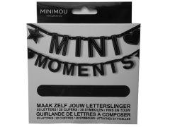 Mini Moments Letterbanner Zwart