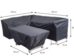 Coverit Lounge/Dining Hoes 205/255X73Xh80Cm & 152X82Xh65Cm