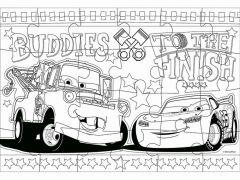 Cars Kleurpuzzel Tweezijdig 41X28 24St