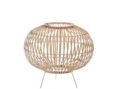 Lampk Spijlen Stnd Bamb/Met Nat/W (40X40X35Cm)