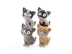 Led Solar Kittens Buiten 16Cm 2L Koel Wit 4Kl.Assortiment Prijs Per Stuk