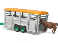 Bruder 02227 Veetrailer met koe