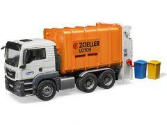 Bruder 03762 MAN TGS vuilniswagen met vuilbakken