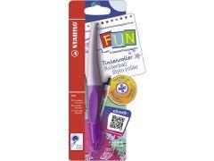 Stabilo Fun Rollerball Lavendel/Purple + 2 Stickers Clever