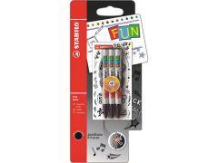 Stabilo Fun Blister 3 Rfeills Black + 2 Stickers Cool