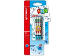 Stabilo Fun Blister 3 Refills Turquoise + 2 Stickers Fearless