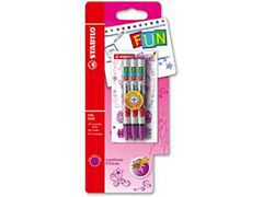 Stabilo Fun Blister 3 Refills Pink + 2 Stickers Imagination