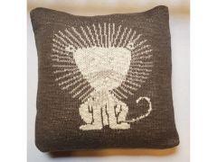 Quax Knitted Cushion - 30*30 Cm - Lion