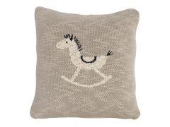 Quax Knitted Cushion - 30*30 Cm - Rocking Horse