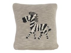 Quax Knitted Cushion - 30*30 Cm - Zebra Big