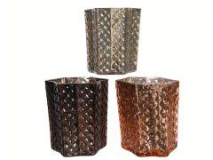 K Glass Tealighth Star 3Class Assortiment Per Stuk 7.5X7.5X8.5Cm