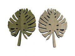Paulownia Wood Leaf 27X71X1.5Cm 1Pc Mix