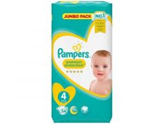 PAMPERS PREMIUM PROTECT S4 JUMBO 54ST