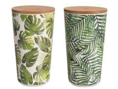 Pot+Deksel Tropical Bamboo Mix L 10X10X19Cm 2 Assortiment per stuk