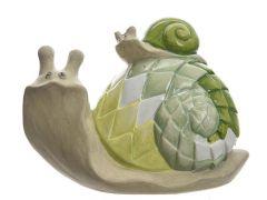 Slak Terracotta Jong Met Mozaiekfinish 8X14.5X11Cm Groen