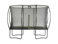 Exit Silhouette Trampoline + Safetynet Rect. 244X366Cm Black