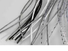 Deurgordijn Rino 100X220Cm Transparant/Zwart