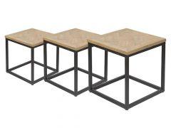 Hamilton Sidetable Trinity Parquetry/Metal Frame L