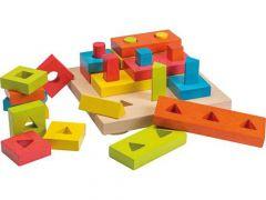 Joueco Stapel Vormen Puzzel Vierkant