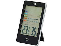 Ade Thermo- En Hygrometer Digitaal Zwart