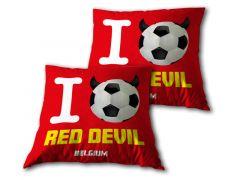 Belgium I Love Red Devil Cushion 35X35Cm