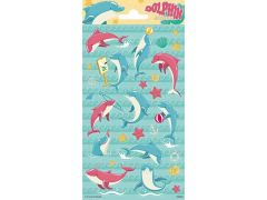 Stickersheets 10.2X20Cm Sheet Paper Dolphins