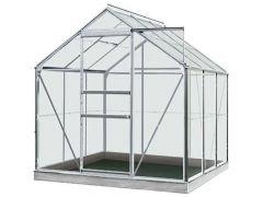 Serre Intro Grow - Daisy - 3,8M² Aluminium Gehard Glas 3Mm - 1,93M X 1,95M X H1,24M/1,95M