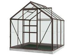 Serre Intro Grow - Daisy - 3,8M² Antraciet Grijs Ral7016 Gehard Glas 3Mm - 1,93M X 1,95M X H1,24M