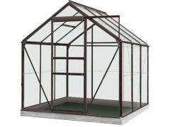 Serre Intro Grow - Daisy - 3,8M² Antraciet Grijs Ral7016 Poly 4Mm - 1,93M X 1,95M X H1,24M/1,95M