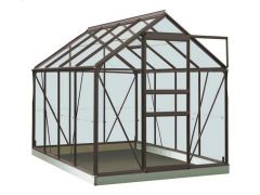 Serre Intro Grow - Ivy - 5,0M² Antraciet Grijs Ral7016 Gehard Glas 3Mm - 1,93M X 2,57M X H1,21M