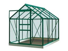 Serre Intro Grow - Ivy - 5,0M² Groen Ral6009 Poly 4Mm - 1,93M X 2,57M X H1,21M/1,95M