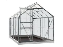 Serre Intro Grow - Lily - 6,2M² Aluminium Poly 4Mm - 1,93M X 3,19M X H1,21M/1,95M