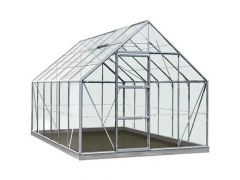 Serre Intro Grow - Oliver - 9,9M² Aluminium Gehard Glas 3Mm - 2,57M X 3,84M X H1,20M/2,23M