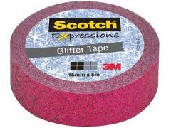Scotch Expressions Tape Refill Roze Glitter 15Mmx5Mm