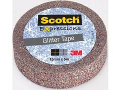 Scotch Expressions Tape Refill Glitter Multicolor 15Mm X 5 Mm