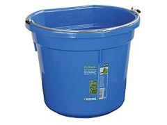 Voeder- En Wateremmer Flatback Ca. 20 L, Blauw