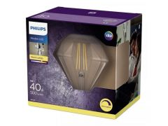 Philips Lamp Ledclassic 40W Diamond E27 2700K Cl D