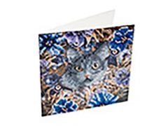 Rainbow Loom Crystal Card Kit Diamond Painting Cat And Flowers