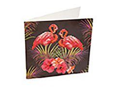 Rainbow Loom Crystal Card Kit Diamond Painting Pink Flamgingoes