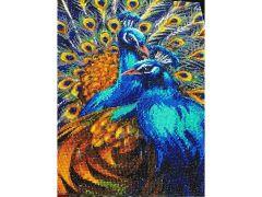 Rainbow Loom Crystal Art Blauwe Pauw Portrait 40X50 Cm