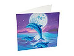Rainbow Loom Crystal Card Kit Diamond Painting Dolphin Pod
