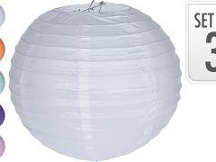 Lampion Papier 30Cm Set Van  3 Stuks Per Kleur