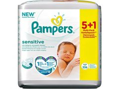PAMPERS WIPES SENSITIVE 6X56ST
