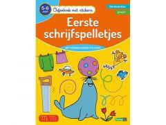 Oefenboek Met Stickers - Eerste Schrijfspelletjes (5-6J)