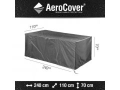Aerocover Tafel Hoes 240X110Xh70Cm Anthraciet