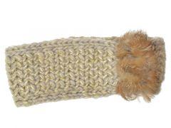 Seeberger W18 Headband Suri With Real Fur Trim Sand